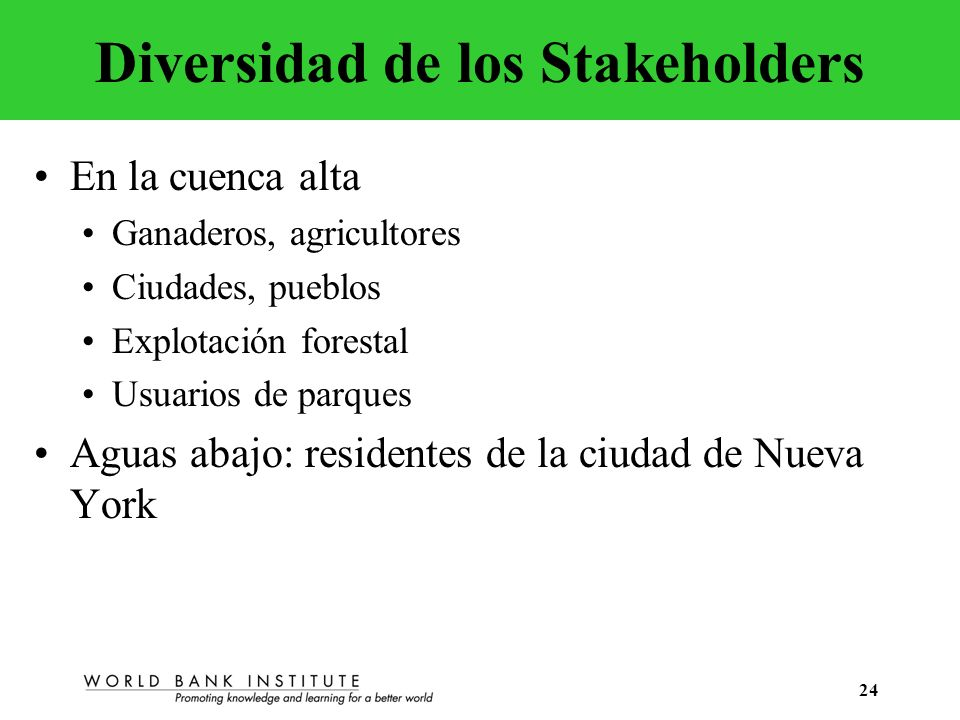 Diversidad de los Stakeholders