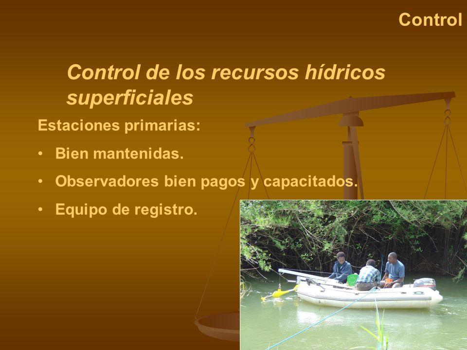 Control de los recursos hídricos superficiales