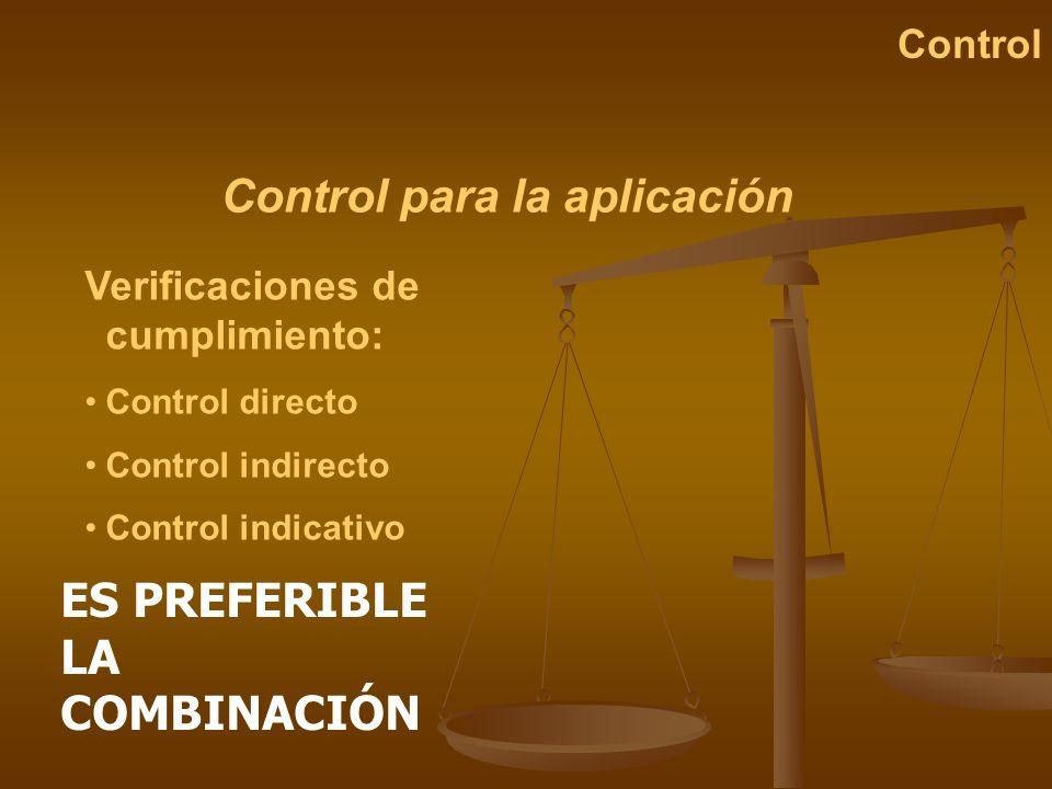 Control para la aplicación