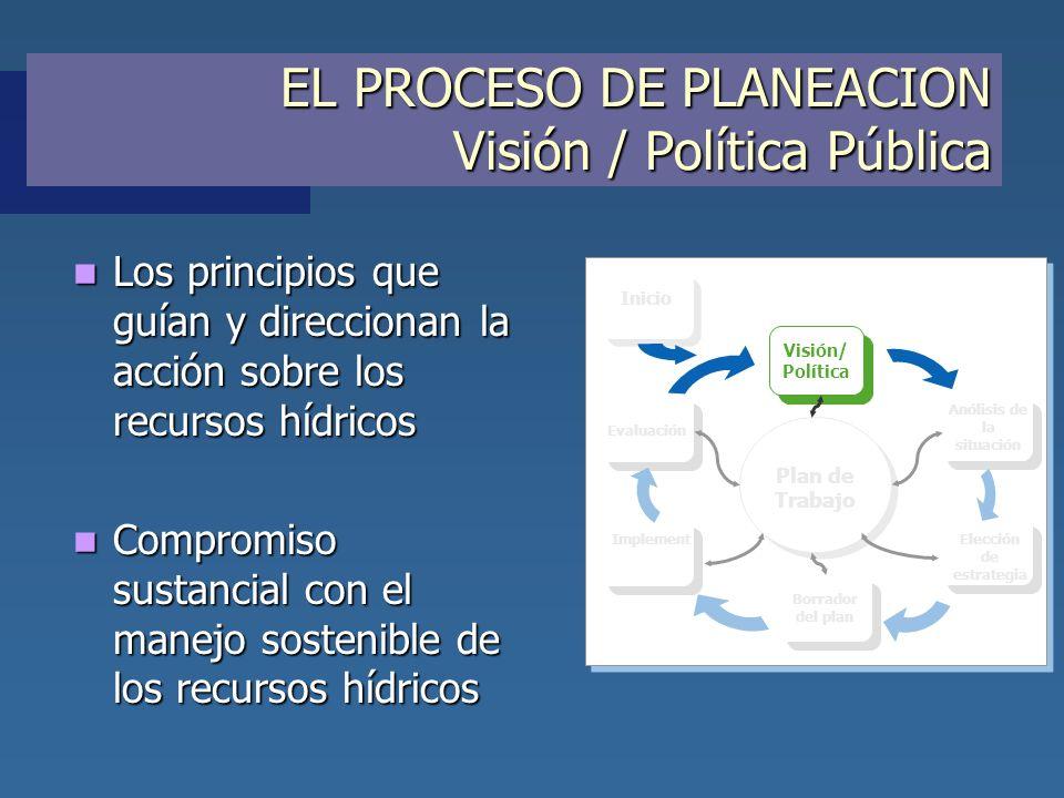EL PROCESO DE PLANEACION Visión / Política Pública