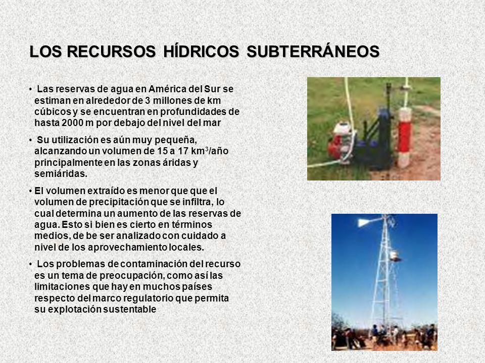 LOS RECURSOS HÍDRICOS SUBTERRÁNEOS