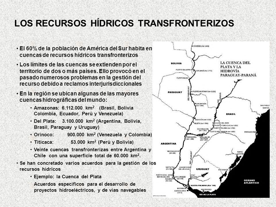 LOS RECURSOS HÍDRICOS TRANSFRONTERIZOS