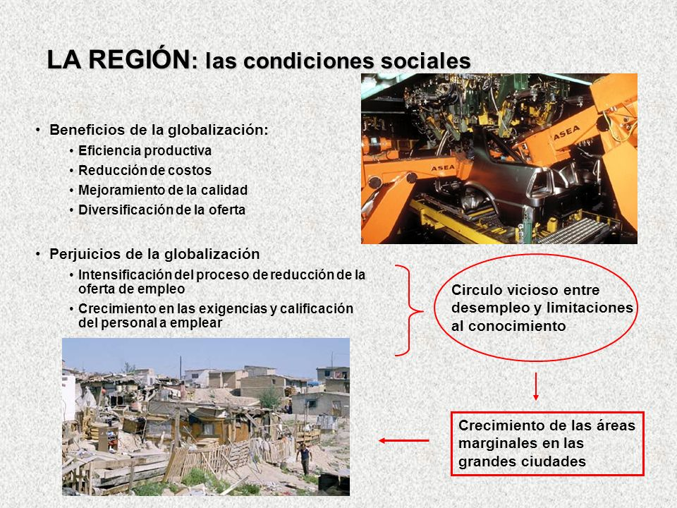 LA REGIÓN: las condiciones sociales
