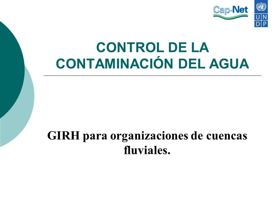 CONTROL DE LA CONTAMINACIÓN DEL AGUA