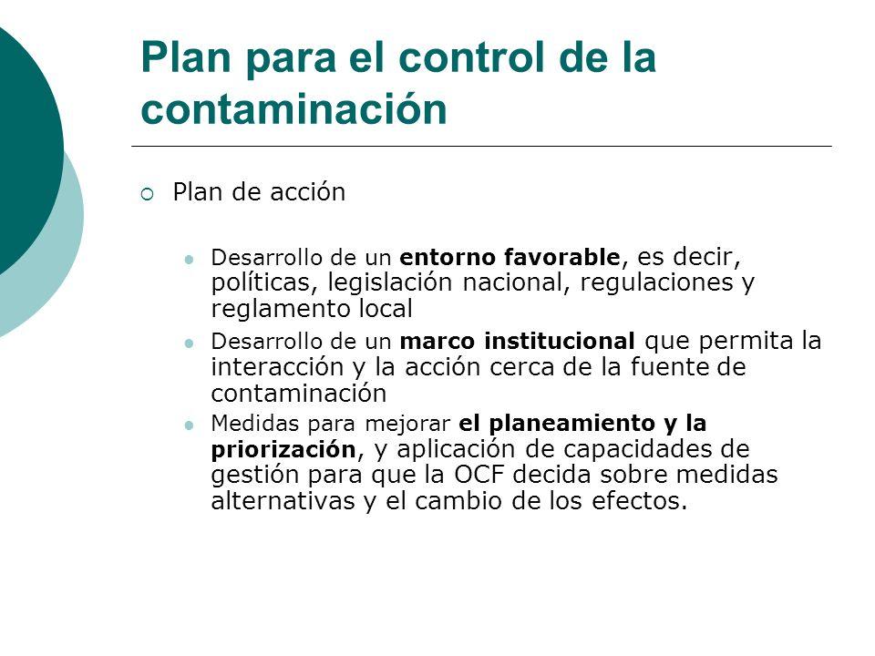 Plan para el control de la contaminación