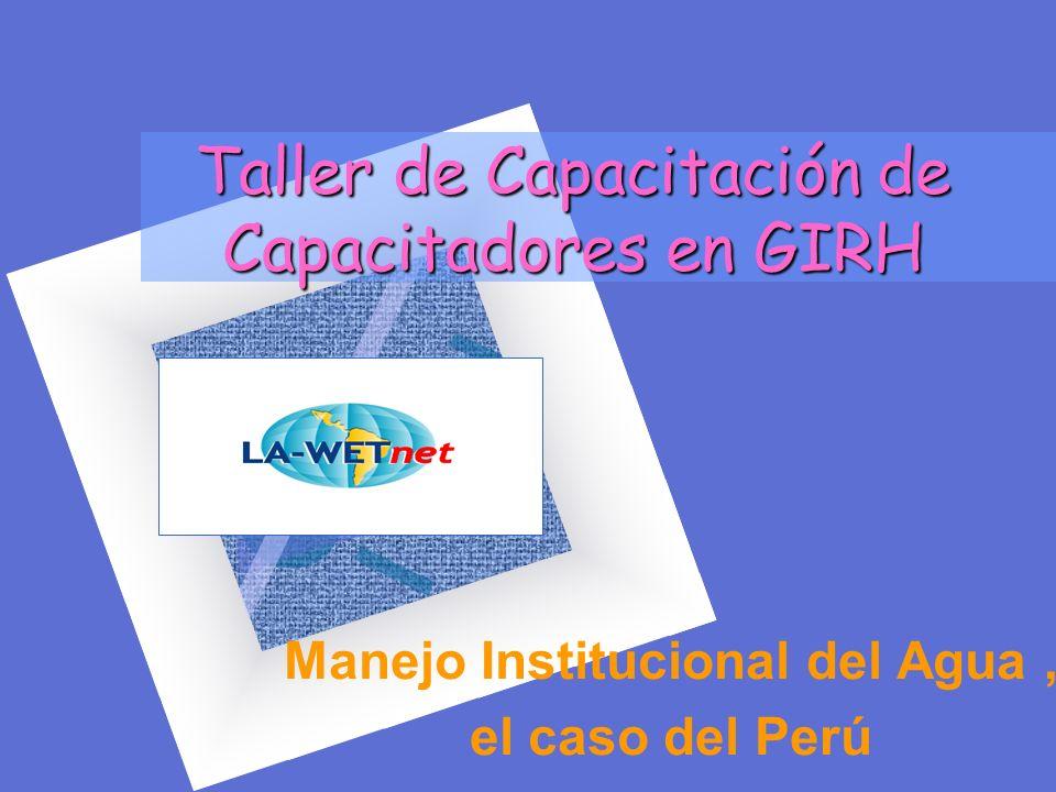 Taller de Capacitación de Capacitadores en GIRH