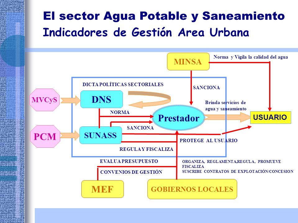 El sector Agua Potable y Saneamiento