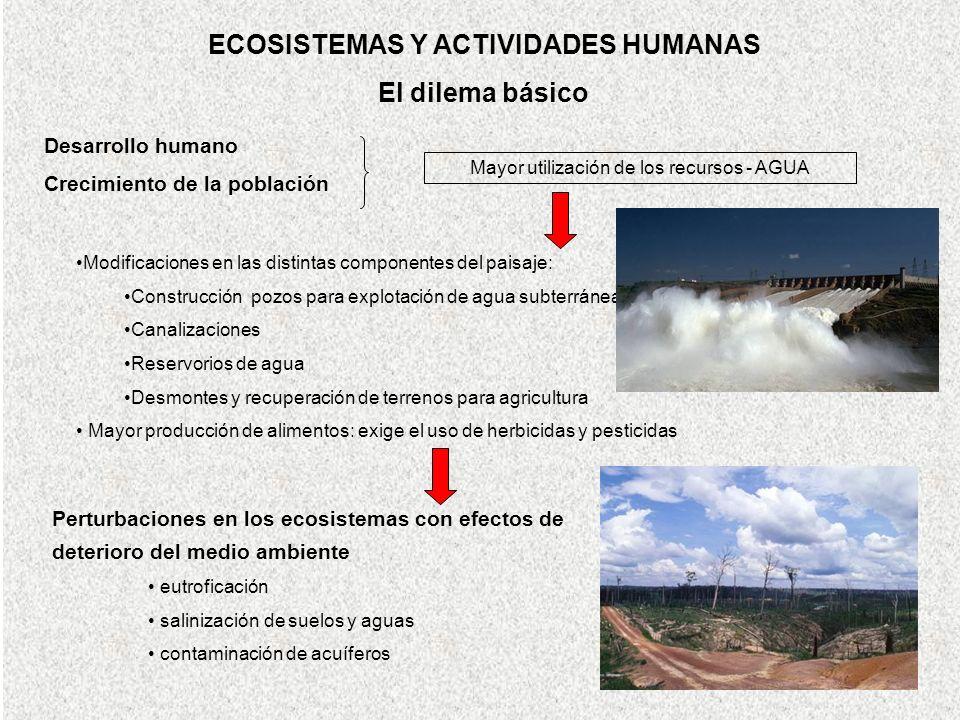 ECOSISTEMAS Y ACTIVIDADES HUMANAS