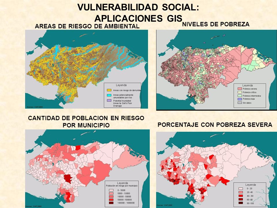 VULNERABILIDAD SOCIAL: APLICACIONES GIS