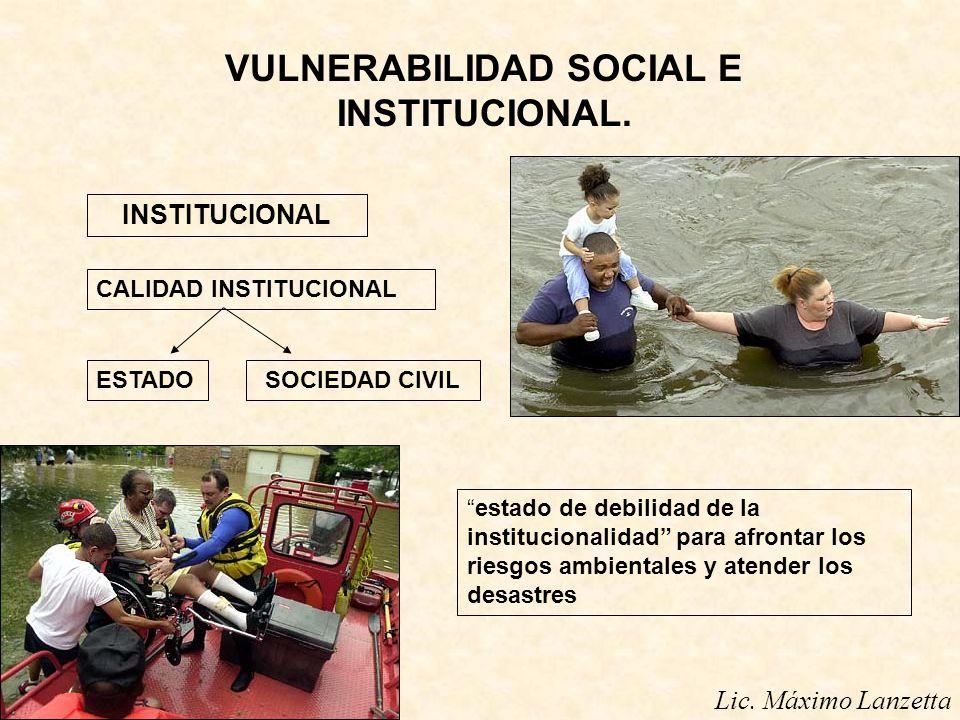 VULNERABILIDAD SOCIAL E INSTITUCIONAL.