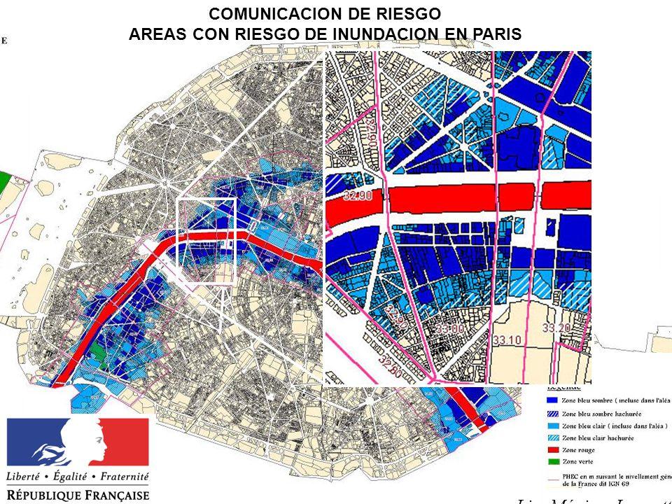 COMUNICACION DE RIESGO AREAS CON RIESGO DE INUNDACION EN PARIS