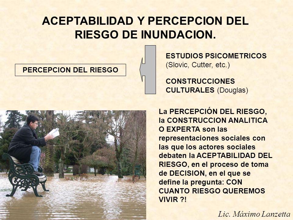 ACEPTABILIDAD Y PERCEPCION DEL RIESGO DE INUNDACION.
