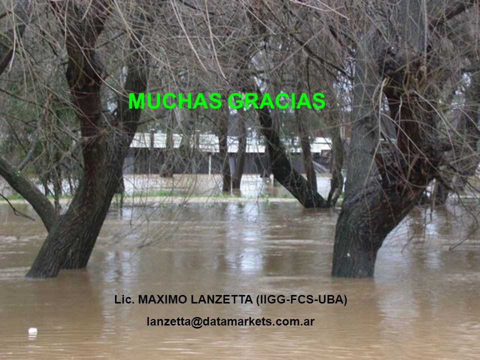 Lic. MAXIMO LANZETTA (IIGG-FCS-UBA)