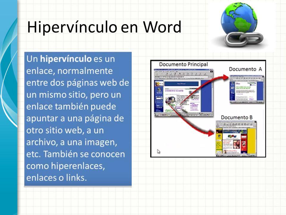 Fecha tema hiperv nculos en word ppt descargar for Que es una pagina virtual