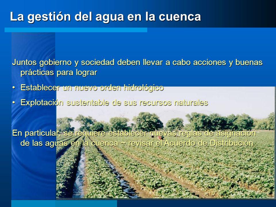 La gestión del agua en la cuenca