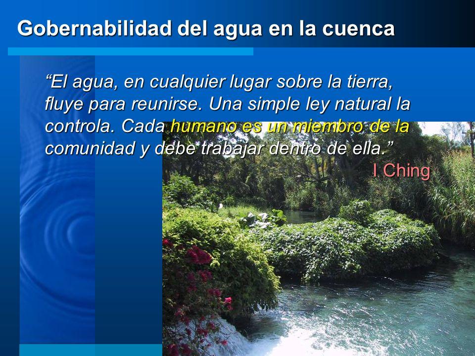 Gobernabilidad del agua en la cuenca