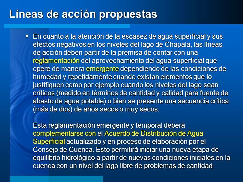 Líneas de acción propuestas