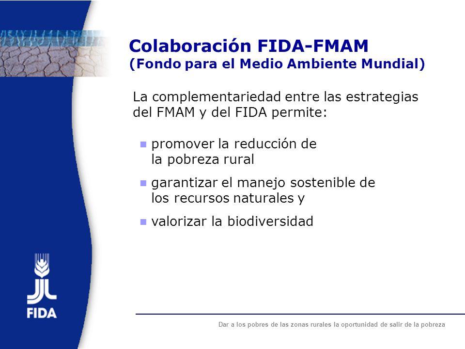 Colaboración FIDA-FMAM (Fondo para el Medio Ambiente Mundial)