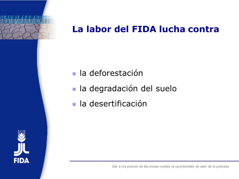 La labor del FIDA lucha contra