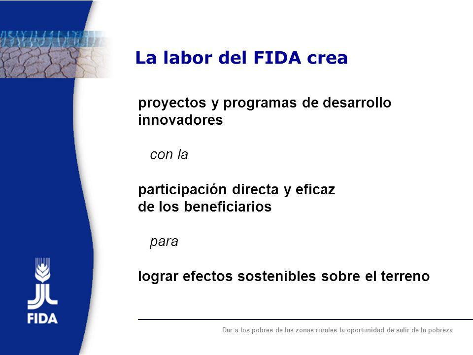 La labor del FIDA crea proyectos y programas de desarrollo innovadores