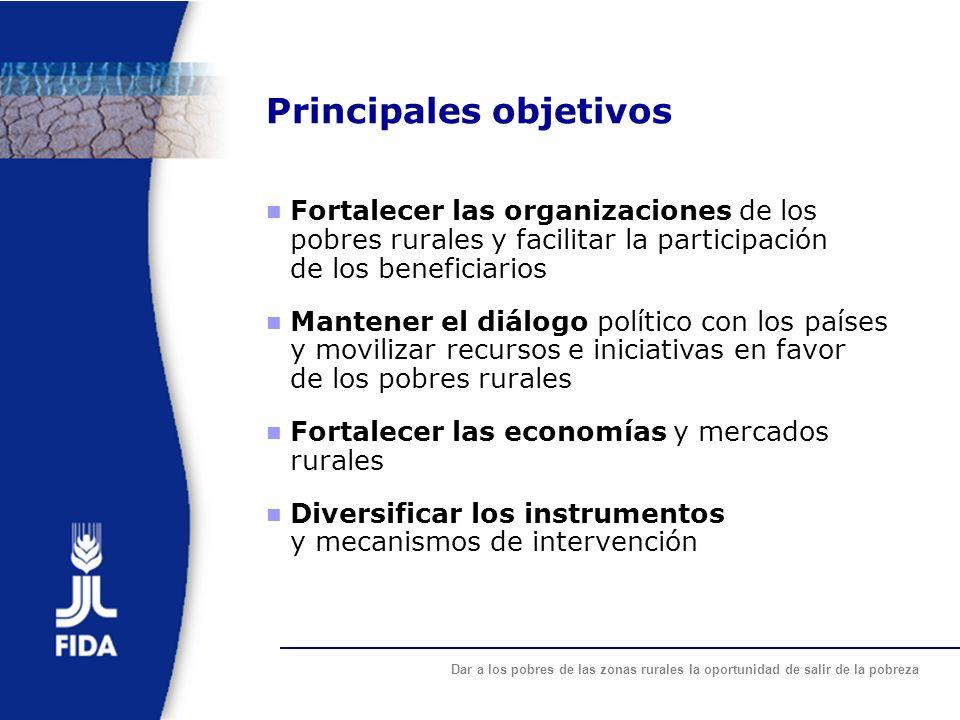 Principales objetivos