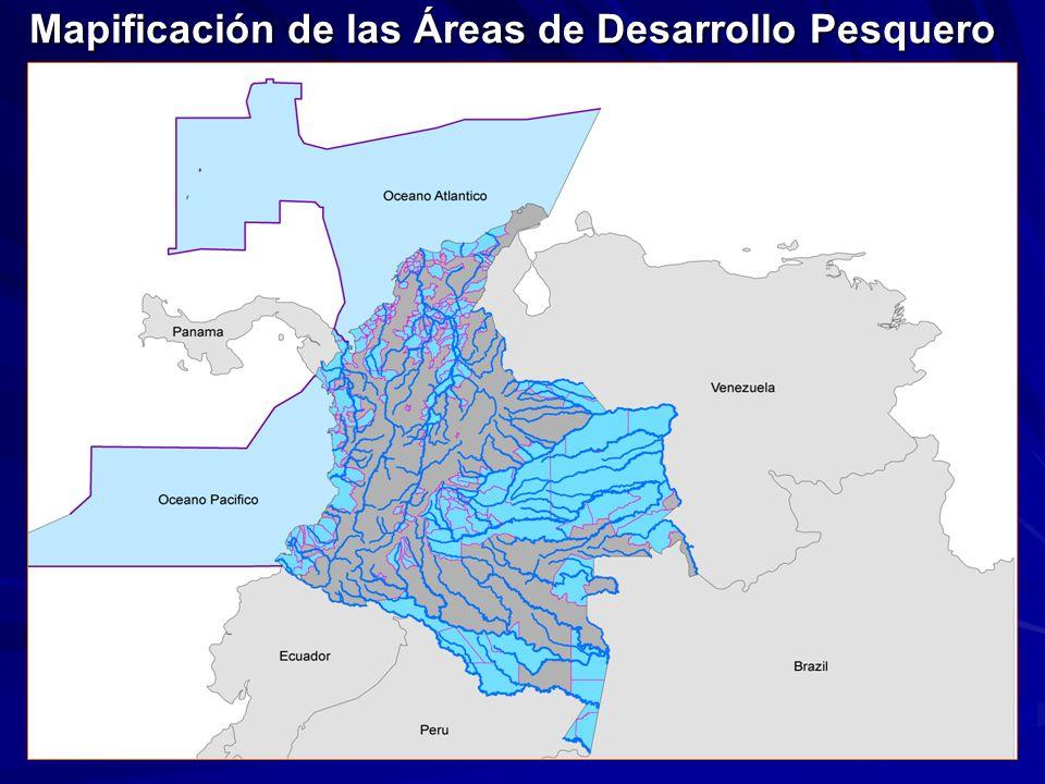 Mapificación de las Áreas de Desarrollo Pesquero