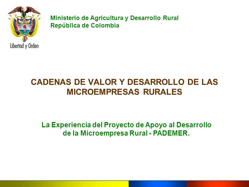 CADENAS DE VALOR Y DESARROLLO DE LAS MICROEMPRESAS RURALES