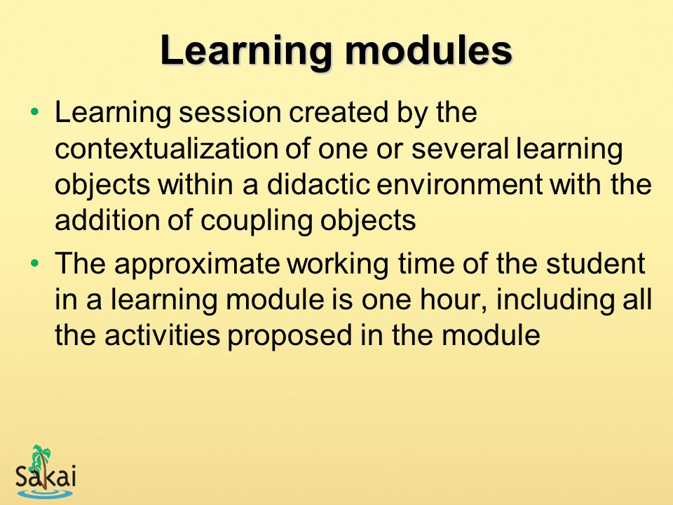 Learning modules