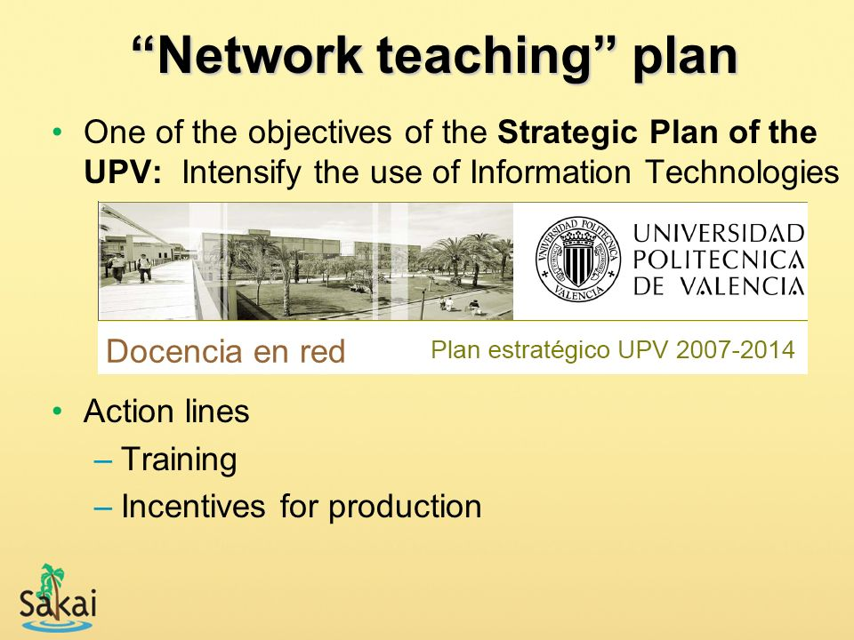 Network teaching plan