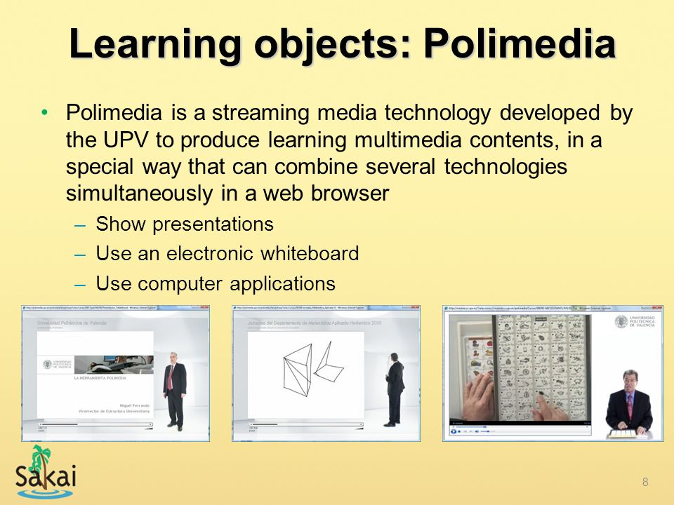 Learning objects: Polimedia