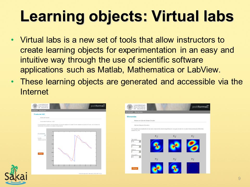 Learning objects: Virtual labs