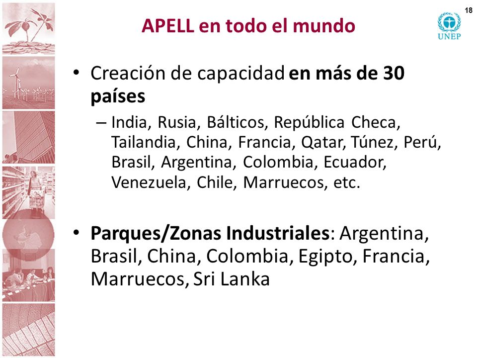 Creación de capacidad en más de 30 países