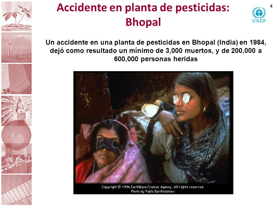 Accidente en planta de pesticidas: Bhopal