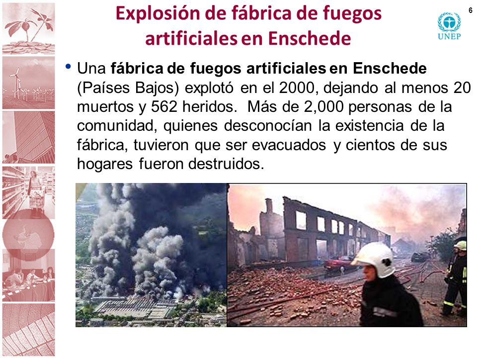 Explosión de fábrica de fuegos artificiales en Enschede