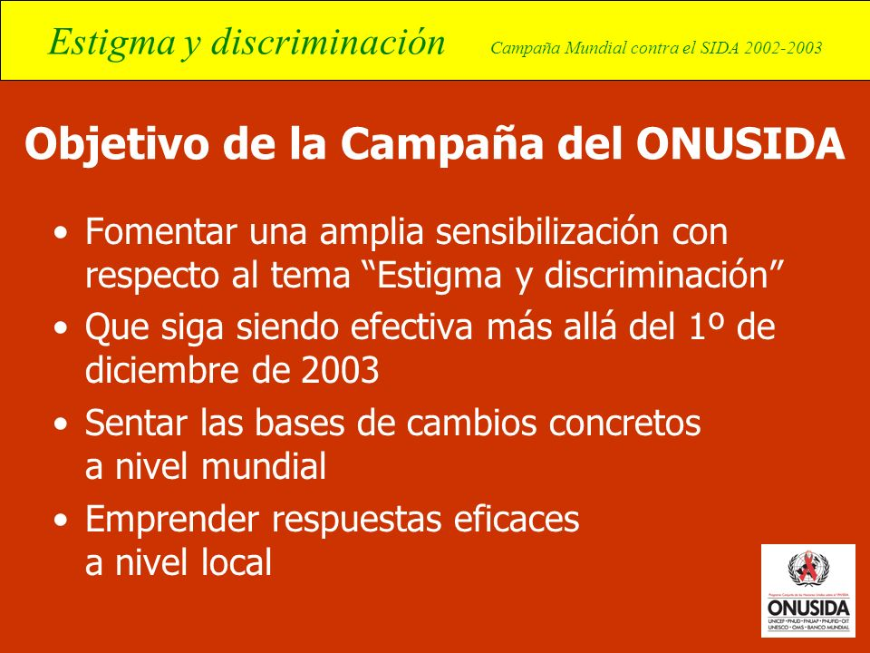 Objetivo de la Campaña del ONUSIDA