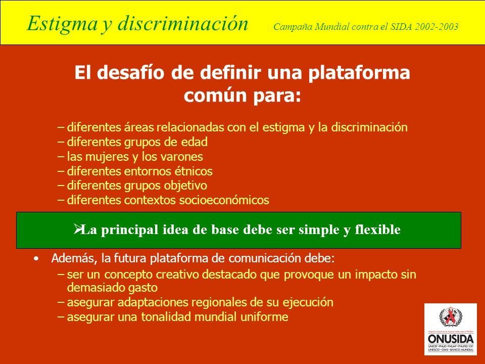 El desafío de definir una plataforma común para: