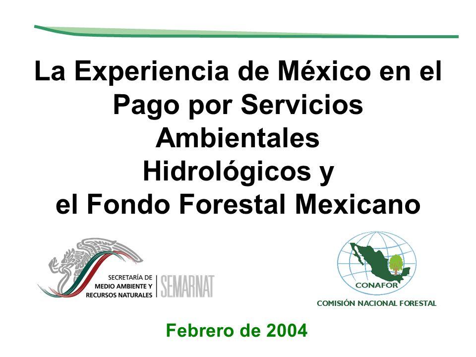 La Experiencia de México en el Pago por Servicios Ambientales Hidrológicos y el Fondo Forestal Mexicano