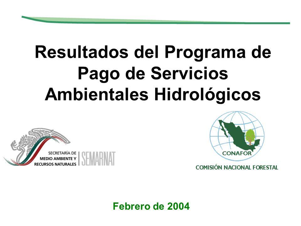 Resultados del Programa de Pago de Servicios Ambientales Hidrológicos