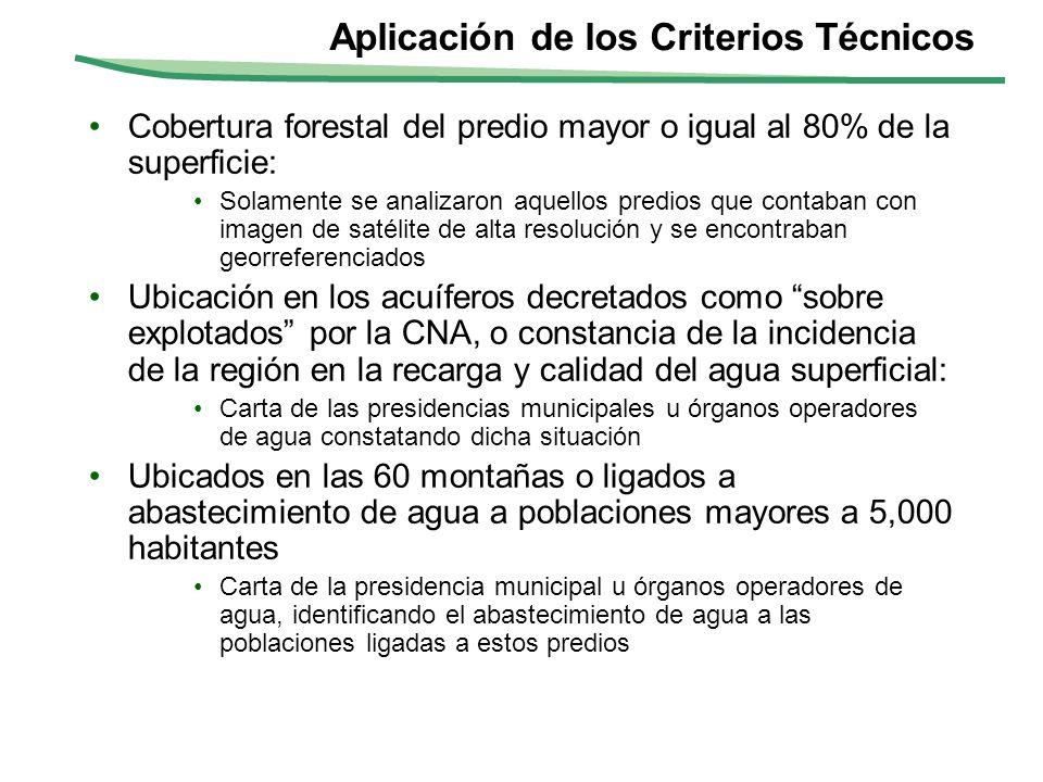Aplicación de los Criterios Técnicos
