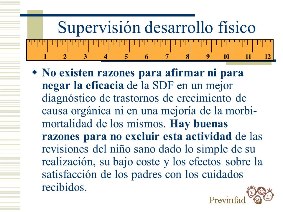 Supervisión desarrollo físico (SDF)