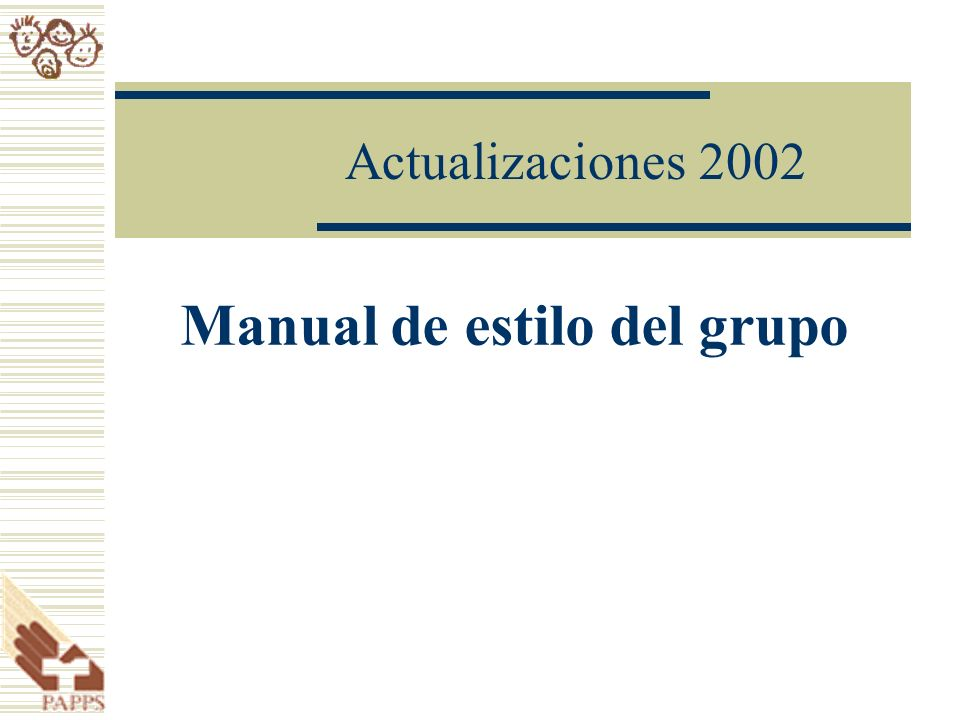 Manual de estilo del grupo