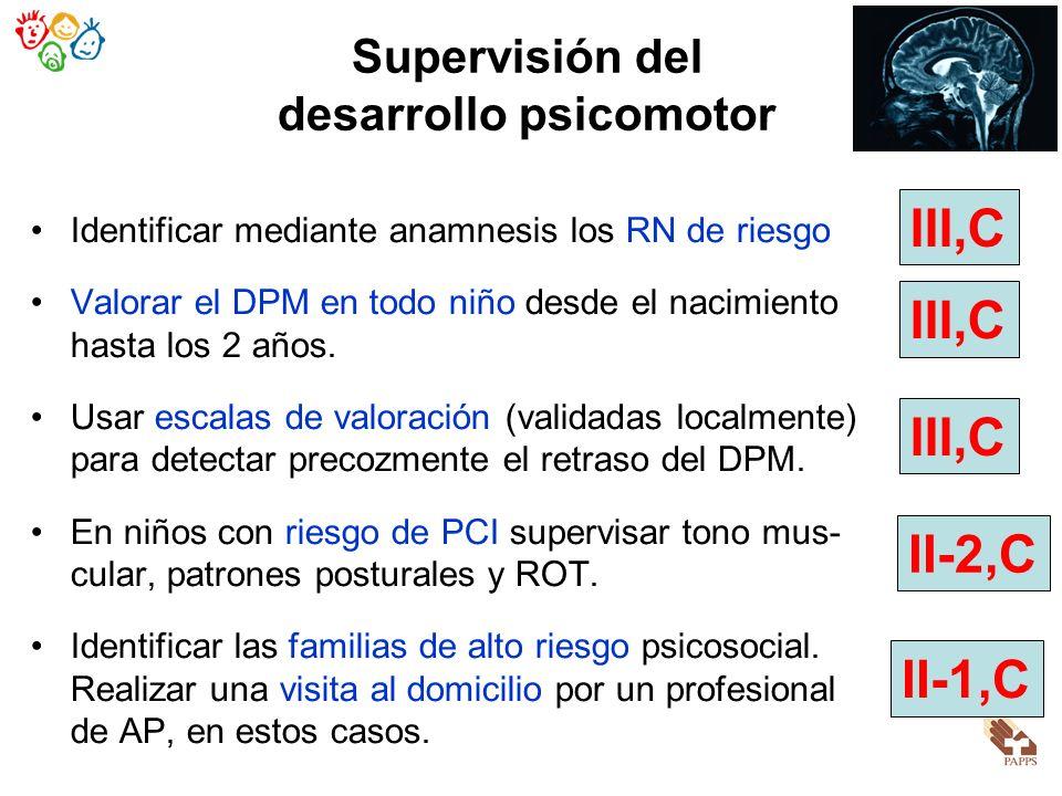 Supervisión del desarrollo psicomotor