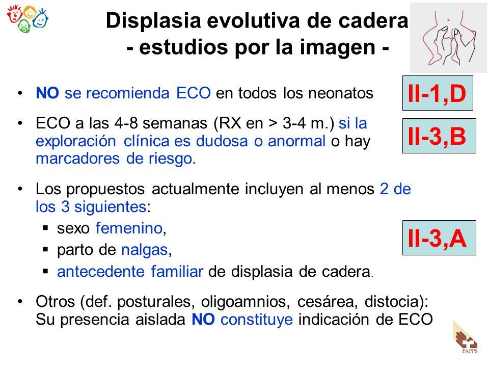 Displasia evolutiva de cadera - estudios por la imagen -