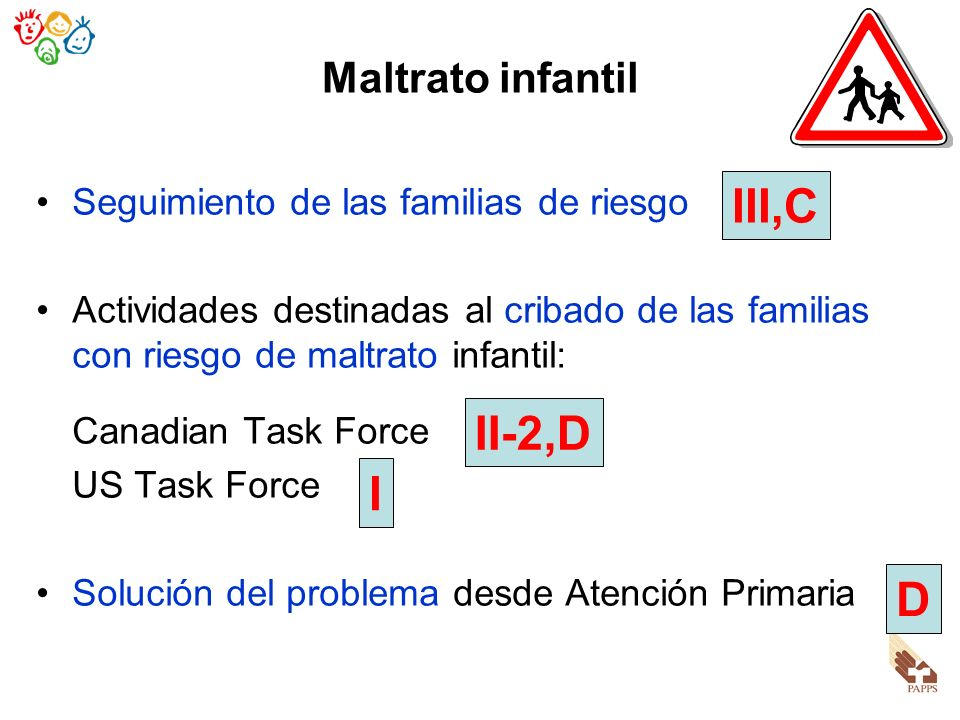 III,C II-2,D I D Maltrato infantil