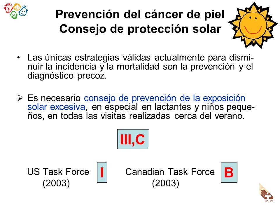 Prevención del cáncer de piel Consejo de protección solar