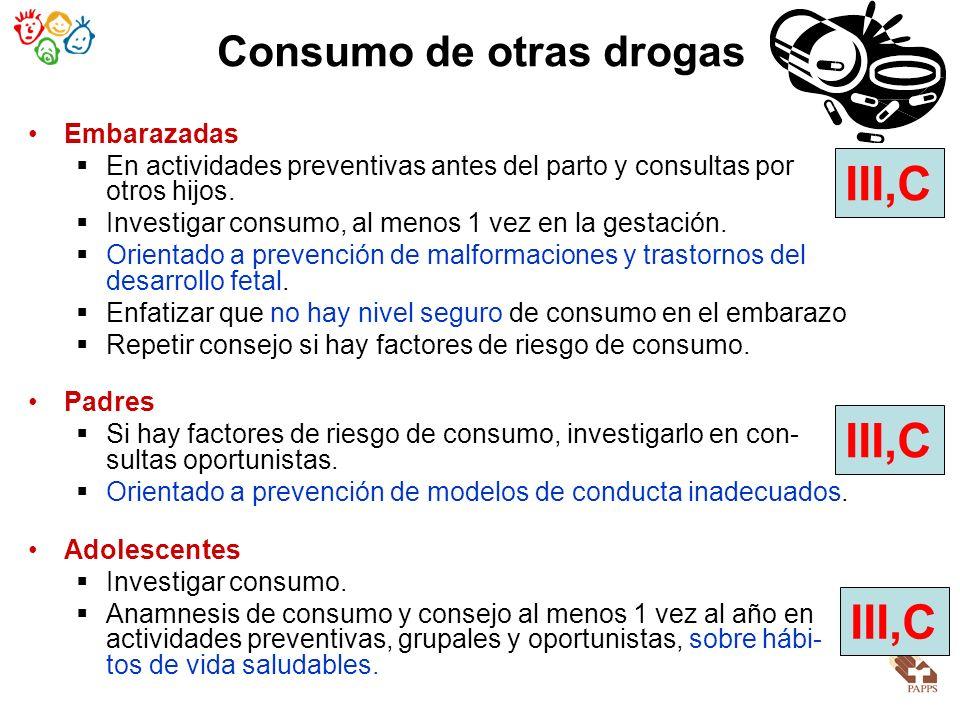 Consumo de otras drogas