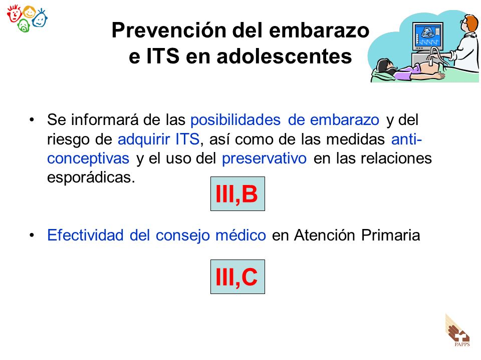 Prevención del embarazo e ITS en adolescentes
