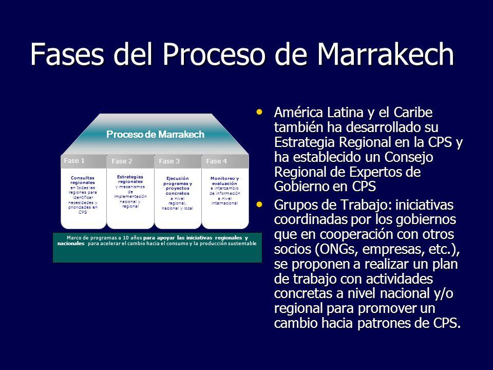 Fases del Proceso de Marrakech