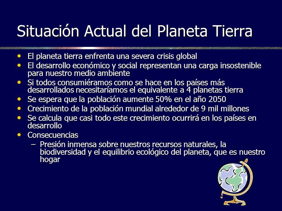 Situación Actual del Planeta Tierra