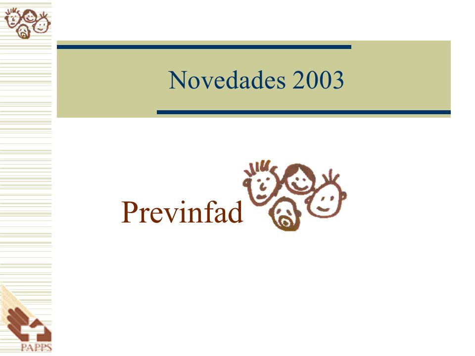 Novedades 2003 Previnfad